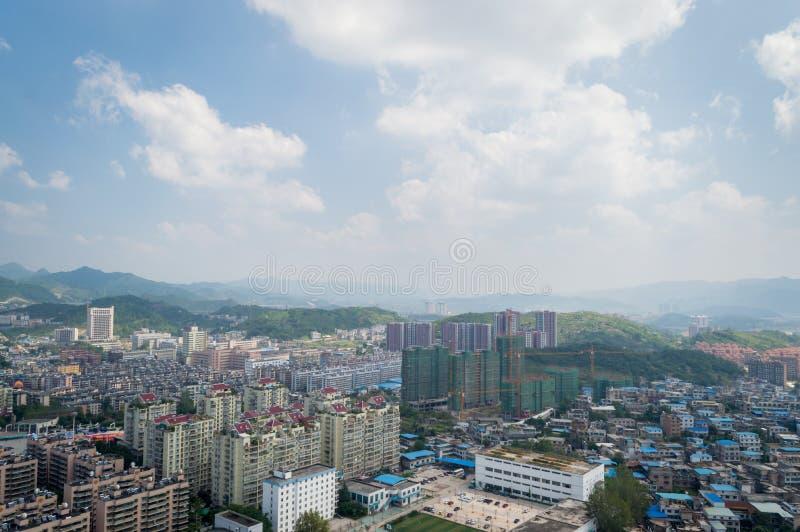 Paysage urbain de villege de forêt de Guiyang, porcelaine 2 image stock