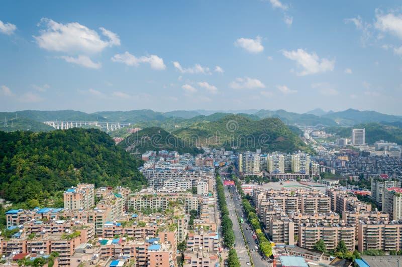 Paysage urbain de villege de forêt de Guiyang, porcelaine 4 photos stock