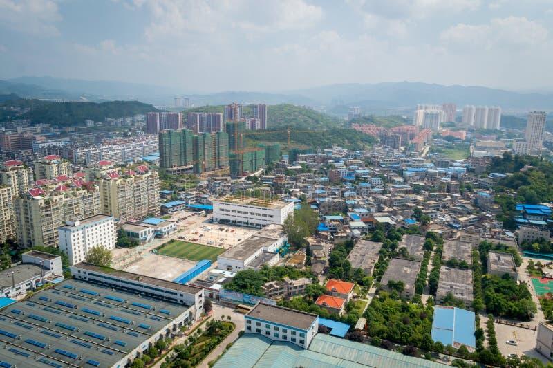 Paysage urbain de villege de forêt de Guiyang, porcelaine 7 photographie stock libre de droits