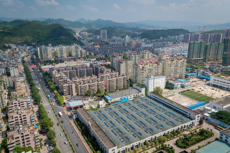 Paysage urbain de Villege de Guiyang, porcelaine 2 images stock