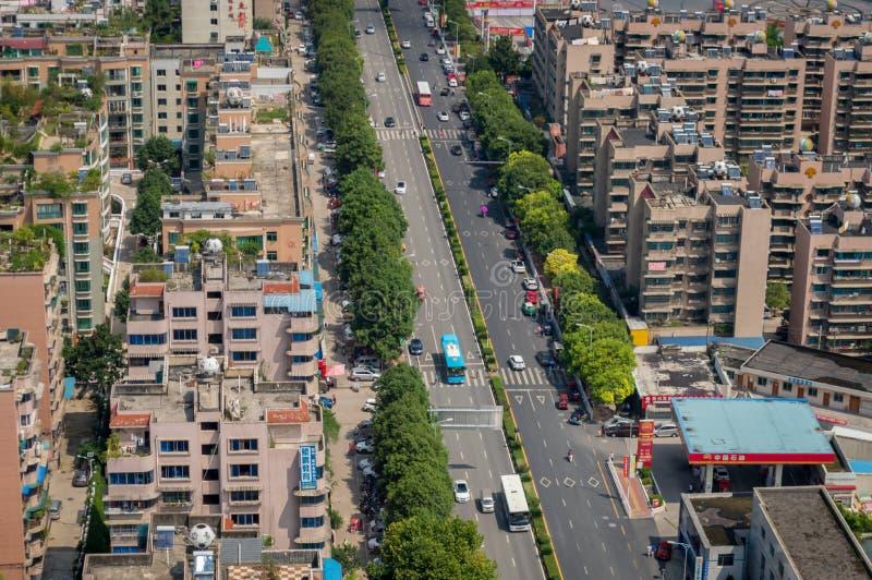 Paysage urbain de Villege de Guiyang, porcelaine 3 photos stock