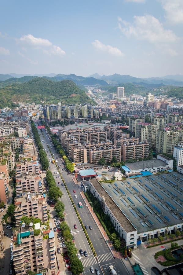 Paysage urbain de Villege de Guiyang, porcelaine 5 images stock
