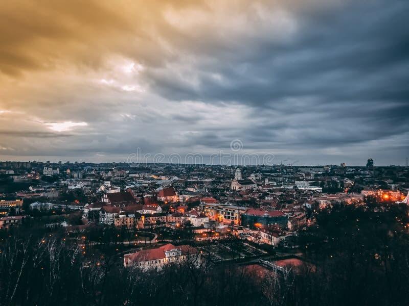Paysage urbain de Vilnius photographie stock