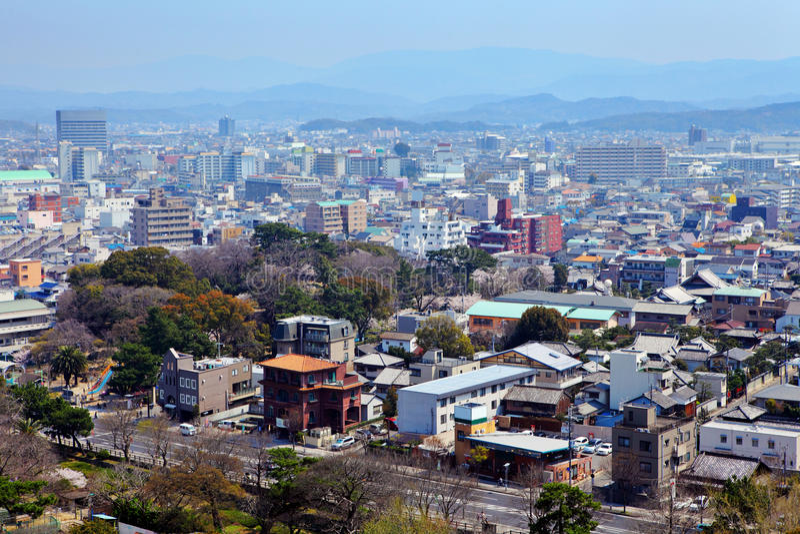 Paysage urbain de Wakayama au Japon photographie stock libre de droits