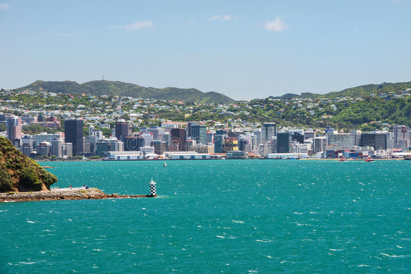 Paysage urbain de Wellington, Nouvelle-Zélande photo libre de droits