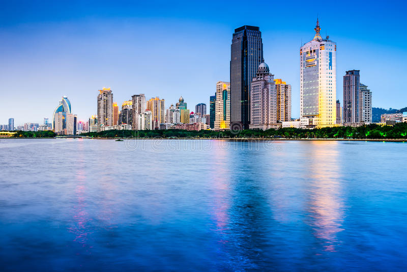 Paysage urbain de Xiamen Chine photo stock
