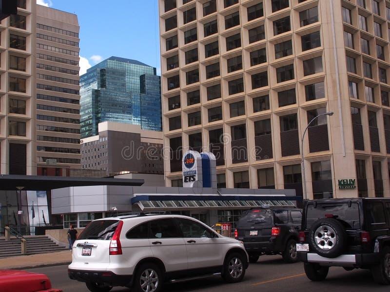 Paysage urbain du centre d'Edmonton Alberta photo libre de droits