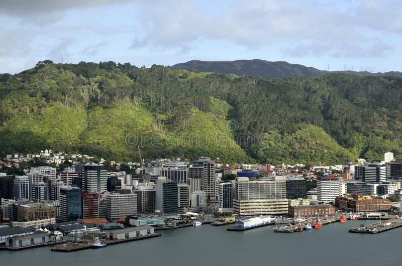 Paysage urbain du centre de Wellington, NZ photos stock
