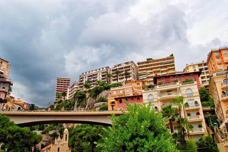 Paysage urbain du Monaco photos stock