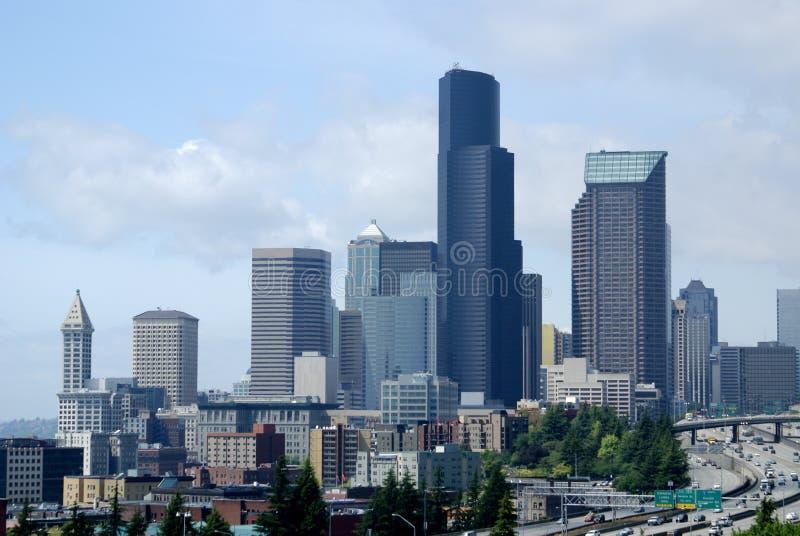 Paysage urbain du sud de Seattle images libres de droits