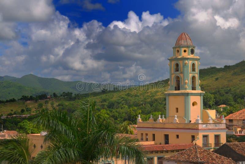 Paysage urbain du Trinidad, Cuba photographie stock libre de droits