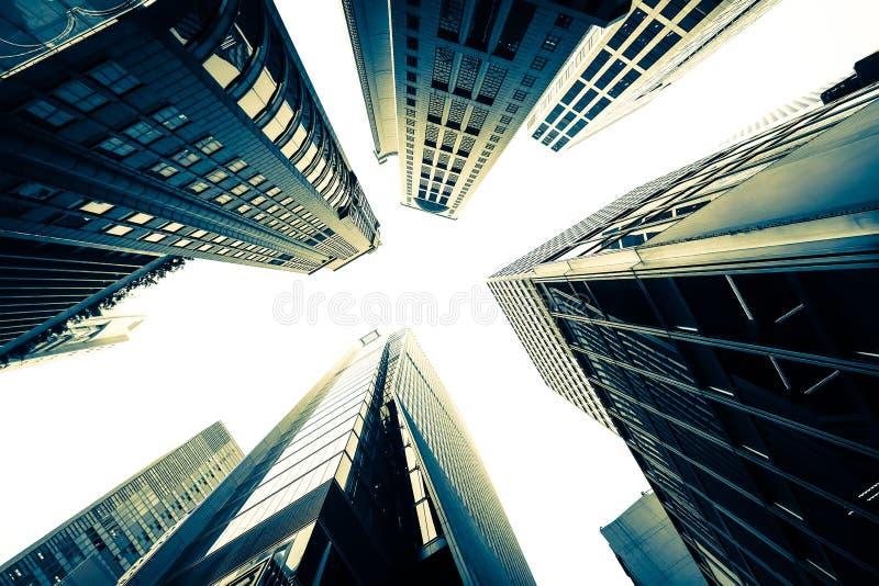 Paysage urbain futuriste abstrait Hon Kong photographie stock