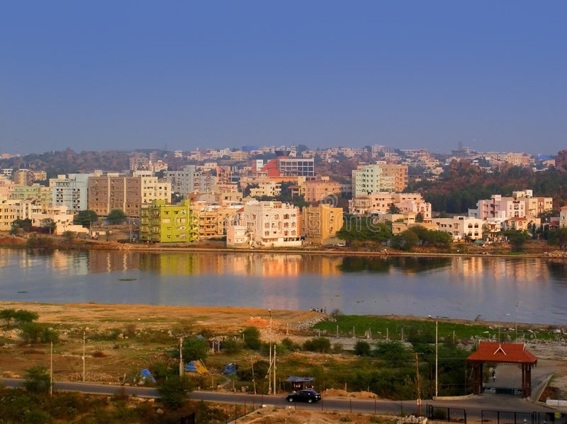 Paysage urbain indien image stock