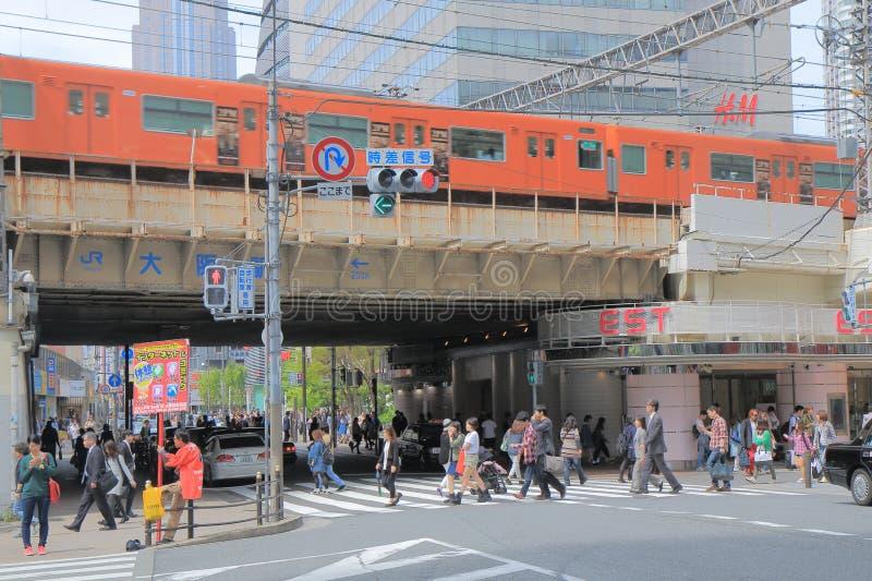 Paysage urbain Japon d'Osaka photographie stock libre de droits