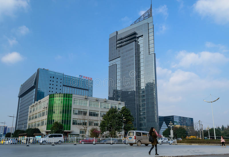 Paysage urbain moderne de Guiyang photographie stock