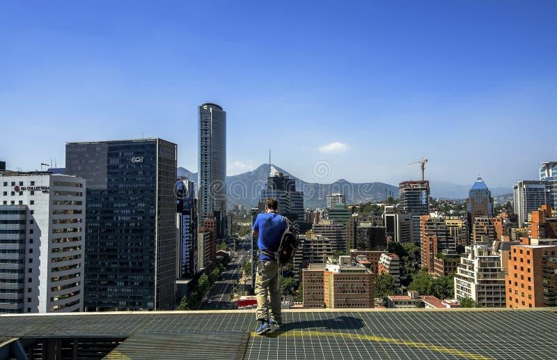 Paysage urbain moderne de Santiago de Chile images stock