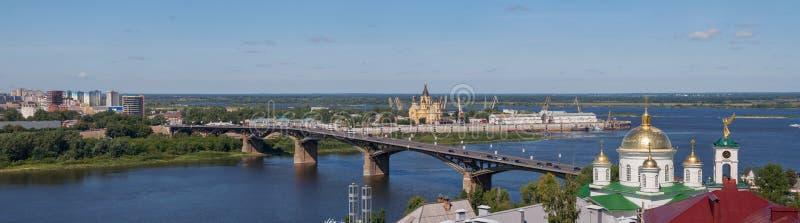 Paysage urbain panoramique de Nijni-Novgorod images stock