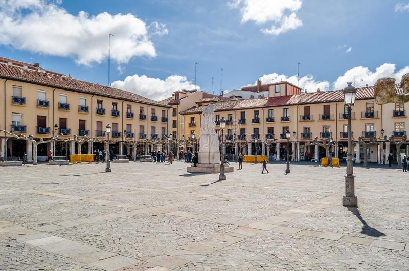Paysage urbain, place principale de Palencia, Espagne photographie stock libre de droits
