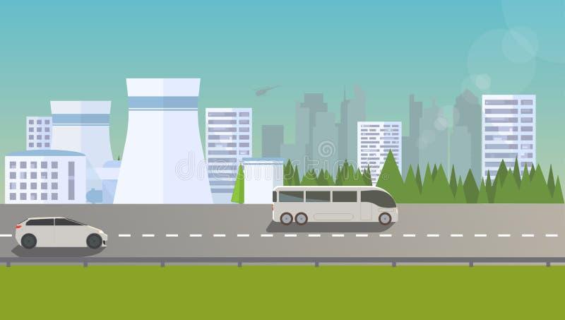 Paysage urbain plat illustration libre de droits
