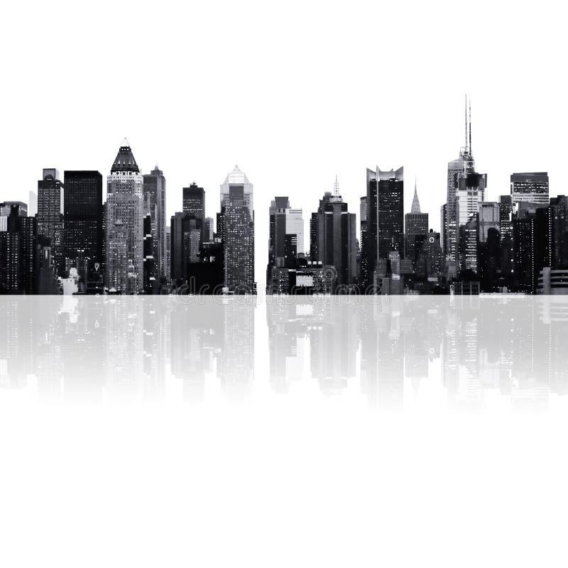 Paysage urbain - silhouettes des gratte-ciel illustration de vecteur
