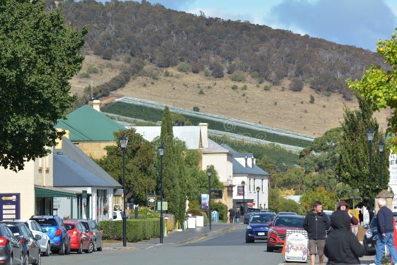 Paysage urbain Tasmanie Australie de Richmond Town image libre de droits