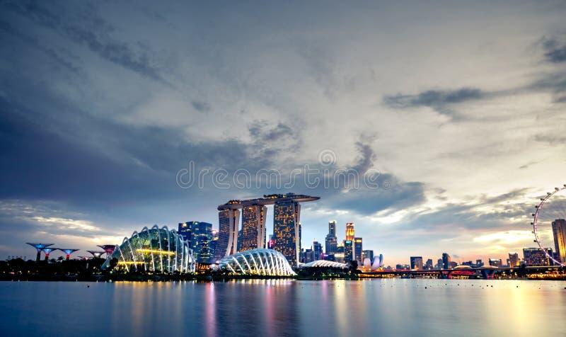 Paysage urbain ville moderne et financi?re de Singapour en Asie Point de rep?re de baie de marina de Singapour Paysage du bâtimen images stock