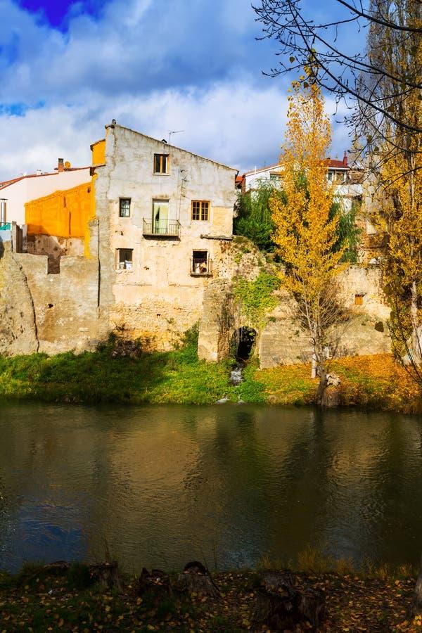 Paysage vertical d'automne photos libres de droits