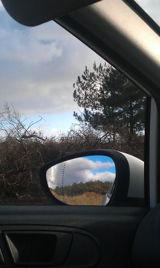 Paysage Wing Mirror photographie stock