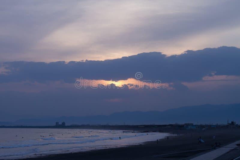 Paysages d'océan et de ciel images stock