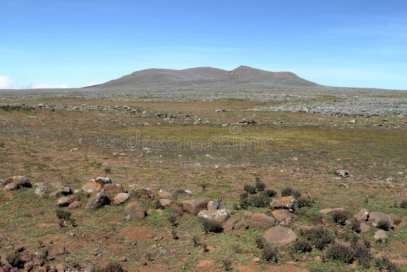 Paysages dans les montagnes de balle de parc national en Ethiopie photo stock