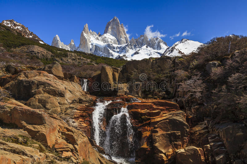 Paysages de l'Argentine du sud Fitz Roy image libre de droits