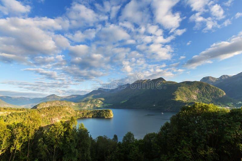 Paysages de la Norvège image libre de droits