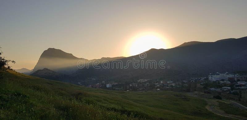 Paysages de la péninsule criméenne image libre de droits