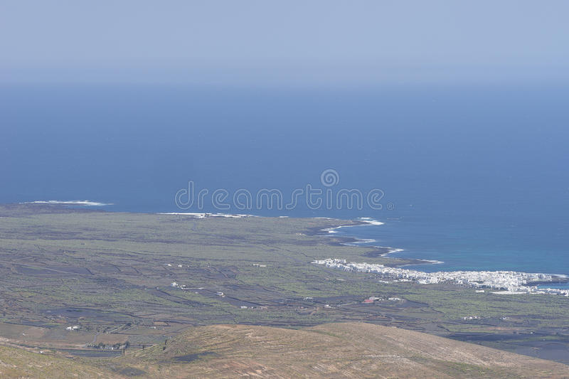 Paysages de Lanzarote photo libre de droits