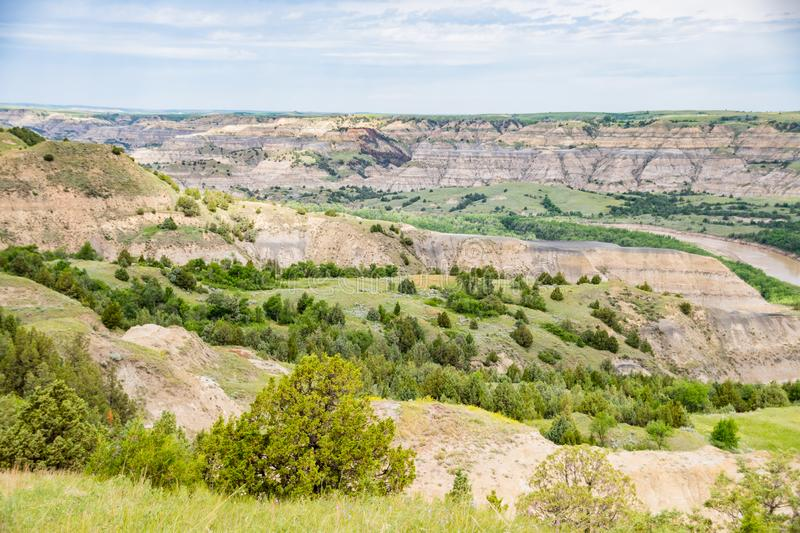 Paysages de Theodore Roosevelt National Park en juillet photo libre de droits