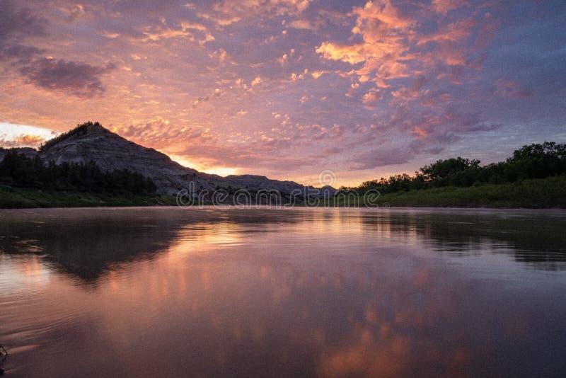 Paysages de Theodore Roosevelt National Park en juillet image libre de droits
