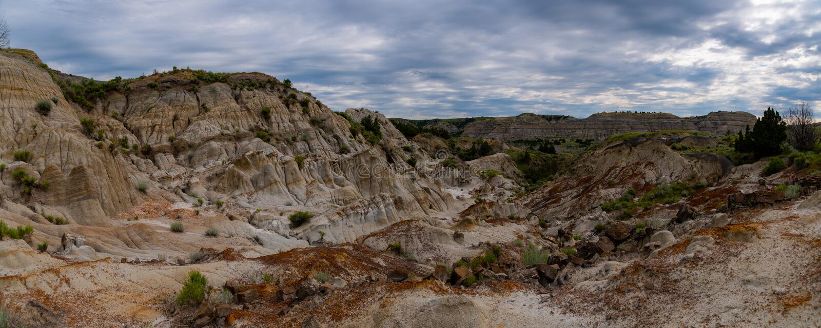 Paysages de Theodore Roosevelt National Park en juillet photo stock