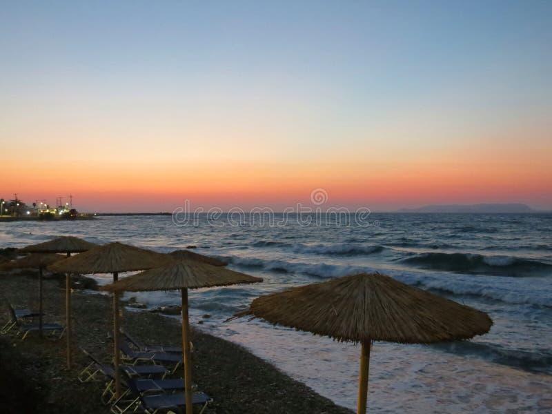 Paysages magnifiques de la côte du nord de Crète photos stock