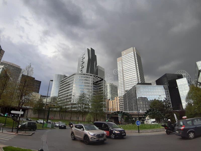 Paysages modernes prochains de ville image libre de droits