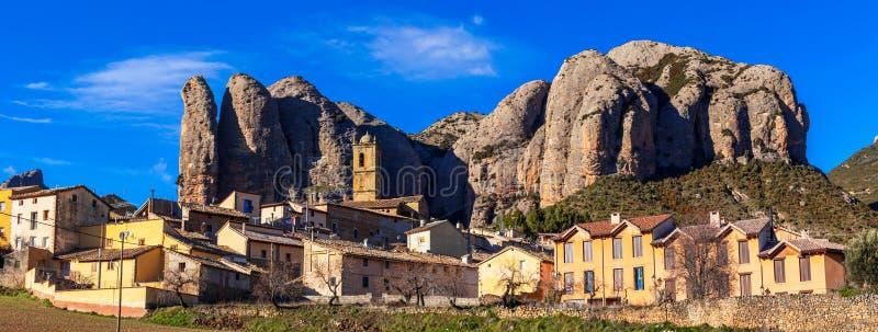 Paysages rocheux fantastiques - Malos de Aguero photo libre de droits