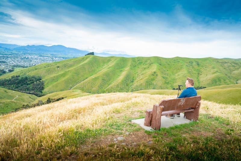 Paysages scéniques de collines de Wither image stock