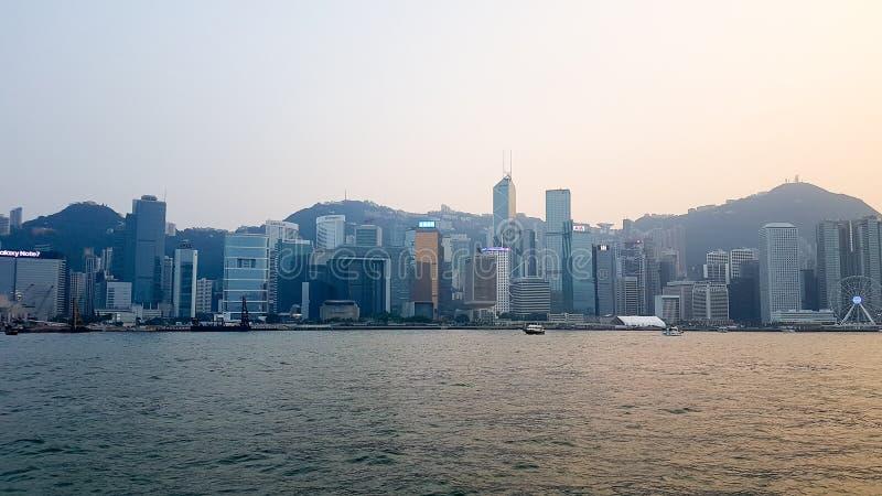 Paysages urbains de Hong Kong image libre de droits