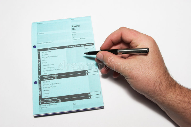 Payslip #2 royalty free stock images
