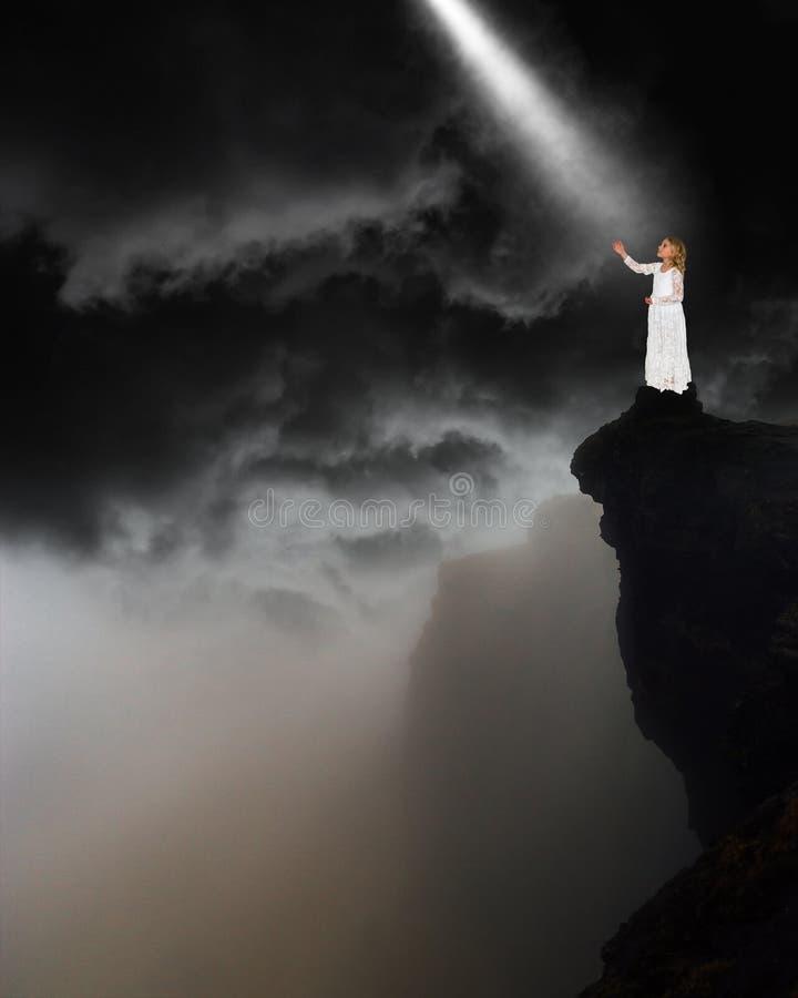 Paz, amor, esperança, renascimento espiritual imagem de stock
