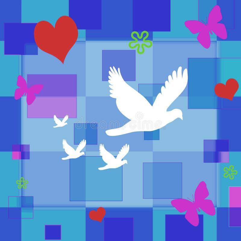 Paz & amor ilustração royalty free