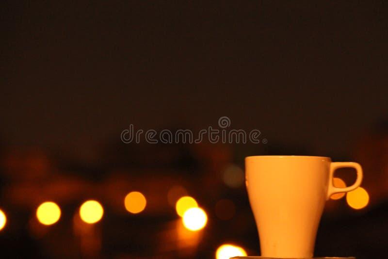 Paz da luz do nightime do cofee da ruptura fotos de stock royalty free