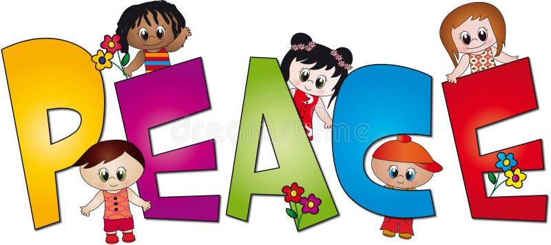 Paz das crianças ilustração stock