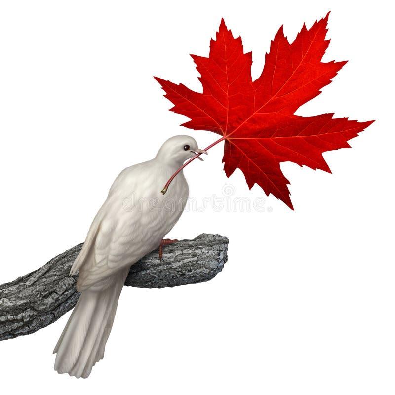 Paz de Canadá stock de ilustración