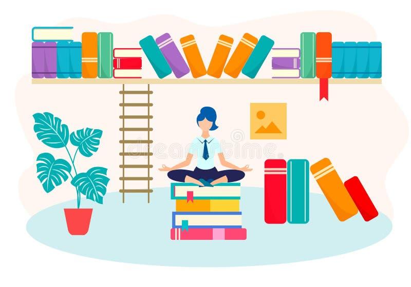 Paz de espírito na aprendizagem ilustração royalty free