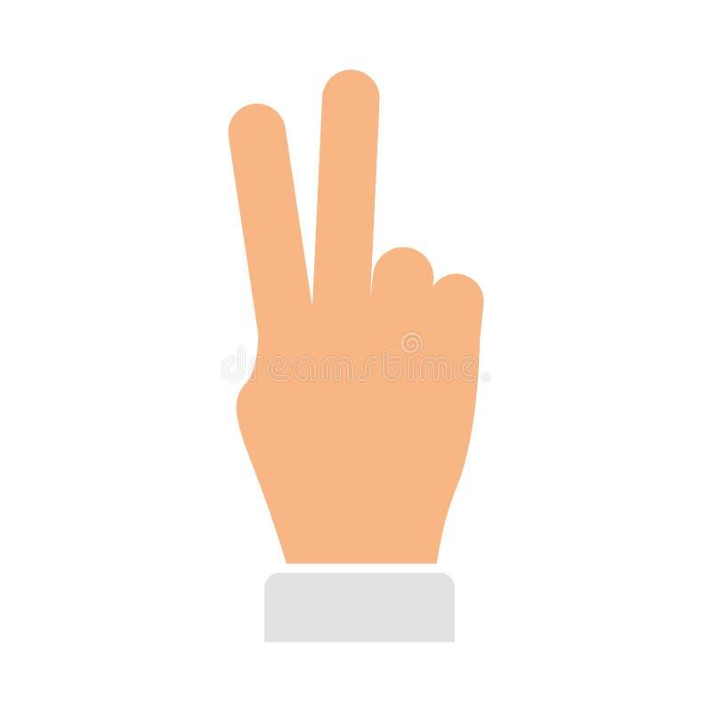Paz de la mano y símbolo del amor ilustración del vector